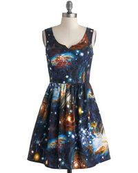 ModCloth Heart and Solar System Dress - Lyst