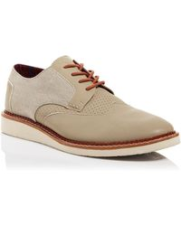 TOMS Brogue Leather And Canvas Wingtip Oxfords - Lyst