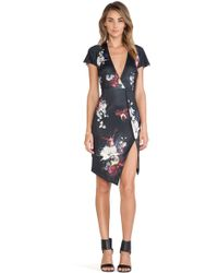 Ringuet Floral-Print Crepe Dress - Black