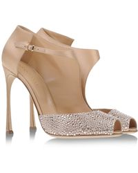 Sergio Rossi Pumps With Open Toe - Lyst