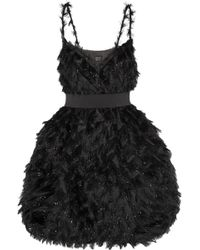 Lanvin Metallic Fil Coupé Mini Dress - Lyst