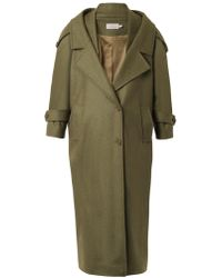 Preen Skylar Oversized Wool-coat - Lyst