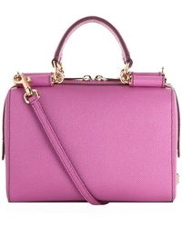 Dolce & Gabbana Dauphine Printed Calfskin Mini Box Bag - Lyst
