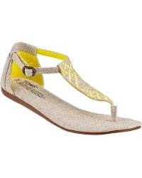 TOMS Playa Thong Sandal Natural Fabric - Lyst