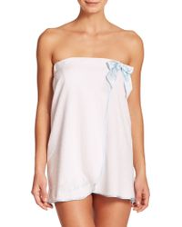 In Bloom Bride Terry Shower Wrap white - Lyst