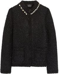 Lanvin Embellished Metallic Bouclé Jacket - Lyst