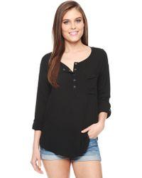 Splendid Drop Sleeve Shirt - Lyst