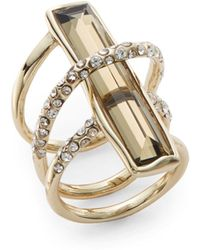 Alexis Bittar Miss Havisham Orbiting Quartz & Labradorite Ring - Lyst