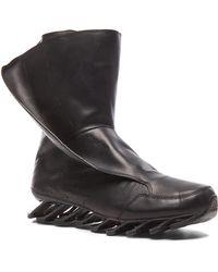 Rick Owens Men'S X Adidas Leather Springblade High - Lyst