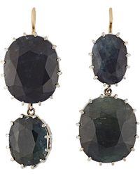 Renee Lewis - Women's Natural Sapphire Double-drop Earrings - Lyst