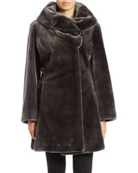 Gallery - Fitted Faux Fur Coat - Lyst