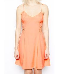 Asos Cami Sundress with Lace Inserts - Lyst