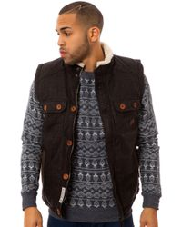 Bellfield The Pico Wadded Check Wool Vest - Lyst