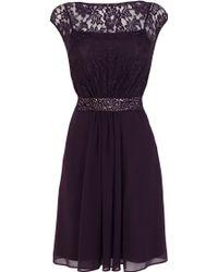 Coast Lori Lee Short Grape Dress - Lyst