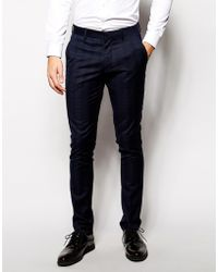 Vito - Check Suit Pants In Slim Fit - Lyst