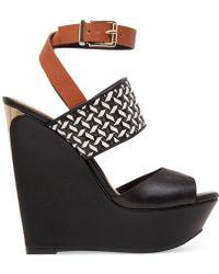 Jessica Simpson Eila Two-Piece Platform Woven Wedge Sandals - Lyst