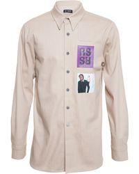 Raf Simons Student Denim Shirt - Lyst