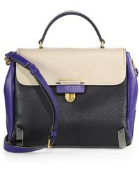 Marc By Marc Jacobs Sheltered Island Colorblock Top-Handle Satchel - Lyst
