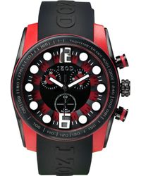 Izod Izod Watch Unisex Chronograph Sport Black Rubber Strap 48mm Izs23blkred
