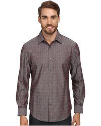 Perry Ellis Ls Stripe Doby Dress Shirt - Lyst