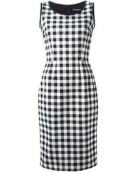 Dolce & Gabbana Black Check Dress - Lyst