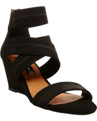 Steven by Steve Madden Couper Suede Wedge Sandals - Lyst