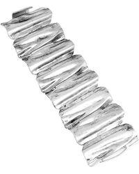 Robert Lee Morris Silver Tone Sculptural Bracelet - Lyst