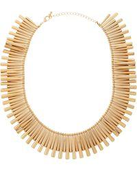 Panacea Tubular Bead Necklace - Lyst
