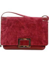 Roger Vivier Handbag Ines Shoulder in Leather and Suede - Lyst
