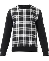 Alexander McQueen Black Checkfront Sweatshirt - Lyst