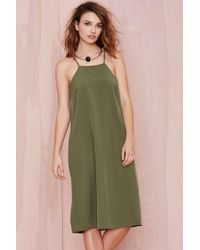 Nasty Gal Marston Midi Dress green - Lyst