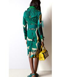 Burberry Book Cover Print Cotton Trench Coat - Lyst