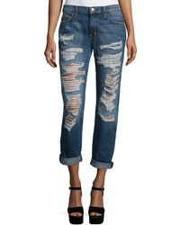 Current/Elliott | The Fling Relaxed-fit Rolled-cuff Jeans | Lyst