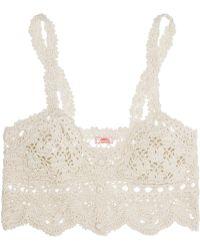 Anna Kosturova Antoinette Crocheted Cotton Top - Lyst
