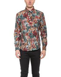 Naked & Famous Big Tropical Print Regular Shirt - Lyst