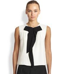 Marc Jacobs Sleeveless Silk Bowtie Blouse - Lyst