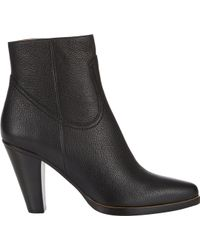 Chloé Stackedheel Ankle Boots - Lyst