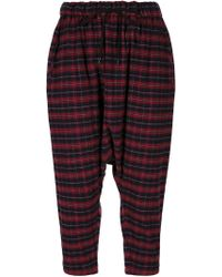 Arts & Science - Drop-crotch Check Trousers - Lyst