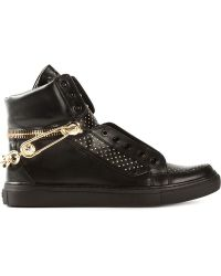 Versus  Chain Studded Sneakers - Lyst