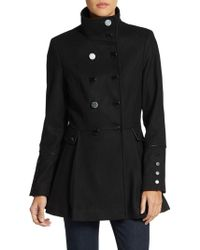 Calvin Klein Double-breasted Melton Wool Coat - Lyst