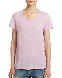 James Perse Cotton Jersey Tee purple - Lyst