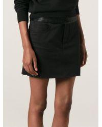 Mm6 By Maison Martin Margiela Straight Panelled Skirt - Lyst