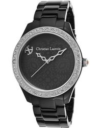 Christian Lacroix - Women's Black Acetate And Dial Crystal Accents - Lyst