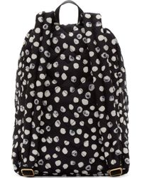 Marc By Marc Jacobs Black And White Quilted Crowsby Backpack