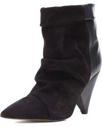 Isabel Marant Andrew Calfskin Velvet Leather Boots - Lyst