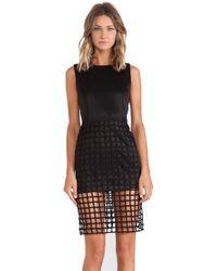 JOA Caged Short Sleeve Dress - Lyst