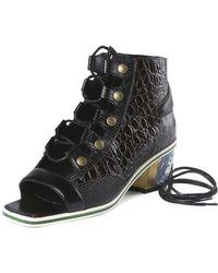 Rodarte Lace-Up Sandal Bootie black - Lyst