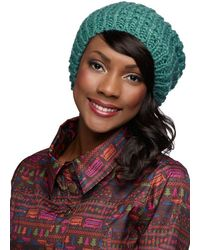 Ana Accessories Inc - Beignet Or Nay Hat in Turquoise - Lyst