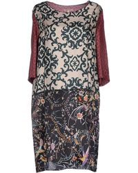 Hache Short Dress red - Lyst