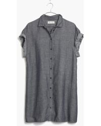 Madewell Chambray Tunic Dress - Lyst